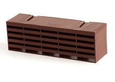 "Timloc 1201 Plastic Air Brick Air Bricks Vent 9"" x 3"" Brown  Box of 10"