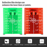 Magnetic Laser Target Card Plate for Green and Red Laser Level Target Plate