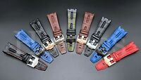 28MM Alligator Leather Watch Band Strap Fits For AP Audemars Piguet Tank Buckle