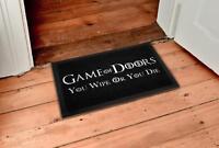 Game of Doors Fußmatte You Wipe or You Die, Schmutzfangmatte Fußabtreter 60x40cm