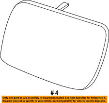 FORD OEM Explorer Outside Mirrors-Front Door-Mirror Glass Right BB5Z17K707D