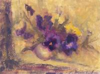 Barbara Doyle (b.1917) - Contemporary Oil, Pansies