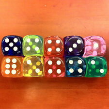 5pcs Acrylic Dice Cube Adult Game Toy Board Game14mm Dices Bar KTV Parties