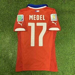 2014 Chile Medel Puma Jersey Shirt Kit Red Home Small S Fifa World Cup 17 Gary