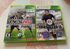 XBOX 360 Pro Evolution Soccer PES 2012 Konami And FIFA 2013