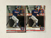 LUIS ARRAEZ LOT OF 2 2019 RC's! Topps Chrome #45 + Topps Update #US247! TWINS!