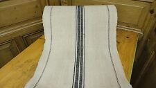 Homespun Linen Hemp/Flax Yardage 28 Yards x 20'' Blue Stripes #6419