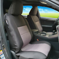 Black Charcoal Canvas Airbag Seat Covers For ISUZU DMax TF Dual Cab 2012-2019