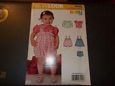 New Look Pattern 6422 Baby Girl Tops~ Romper~ Dress~ Panties  Sz NB- L