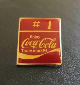 Vintage Enjoy Coca Cola Coke Logo #1 Collectible Pin Button Pinback Lapel Hat