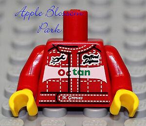 NEW Lego Car Truck Mechanic MINIFIG TORSO Red Octan Race Racing Jump Suit Jacket