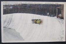 Riding High On Whiteface Curve Olympic Bob Run Lake Placid NY 1947