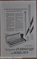 1925 WAHL Pen & Pencil advertisement, Eversharp Mechanical Pencil, fountain pen