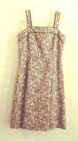 Petite Sophisticate Women's Dress Brown/White Paisley Print Sleeveless Size 6