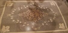 """Antique Tambour Net Lace Tablecloth Or Bed Spread 76"""" X 98"""""""
