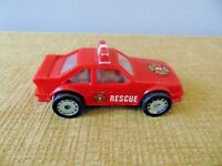 Red Remco Rescue Fire Car 1987 Metal Plastic Fire Department toy