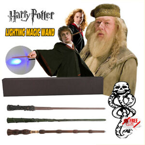 Harry Potter Magic LED Wand Hermione Dumbledore Collection Toy Gift Set Wizard