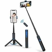 ATUMTEK Bluetooth Selfie Stick Tripod, Mini Extendable 3 in 1 Aluminum Selfie