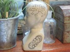 ANTIQUE STYLE SMALL PHRENOLOGY HEAD IN A VINTAGE CRACKLE GLAZE FINISH-FAB!