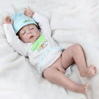 "Handmade Full Body Silicone Vinyl 22"" Reborn Baby Boy Doll Lifelike Newborn Toys"