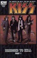 KISS DRESSED TO KILL #1 signed 1st print IDW 2012 comic JAMAL IGLE gene simmons