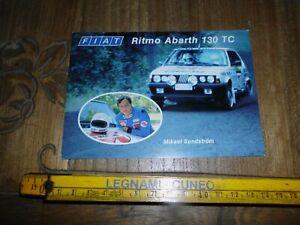 SUNDSTROM MIKAEL FIAT RITMO ABARTH 130 TC 1000 LAKES RALLY CARD CARTOLINA