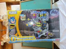 Fisher price Imaginext dc super friends Batcave NIB Batman Robin black grey fun