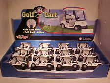 12 Pack of Golf Carts Die-cast Plastic 1:24 Kinsmart 5 inch with Golf bags # 22