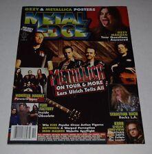 METAL EDGE  Magazine Oct 1998 metallica ozzy monster magnet