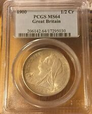 HALF CROWN 1900 PCGS MS 64 1/2Cr Great Britain