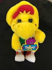 "BJ Yellow Dinosaur Plush 13"" Barney 1994 Lyons Plastic Shoes W Tags"