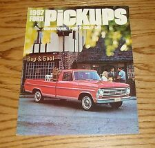 Original 1967 Ford Pickup Sales Brochure 67 F-100 F-250 F-350