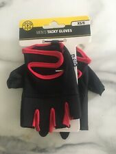 GOLDS GYM - Men's Tacky Gloves - Black/Red - Weight Lifting - Size XS/S - NEW