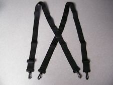 Solid Color Black 54 inch Swivel Hook Clip Ends suspenders 1.5 inch wide