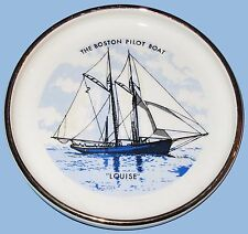 BOSTON PILOT BOAT LOUISE PORCELAIN ASHTRAY and PILOT BOATS of BOSTON BOOK 1950's