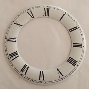130 mm Aluminium White Hour Ring Clock Dials, Genuine Enamel, Black Roman