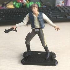 "Hasbro STAR WARS 2001 POTJ HAN SOLO DEATH STAR ESCAPE figure 3.75"" toy w/ gun"