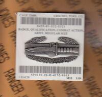 US Army Combat Action Badge CAB 2 inch Fullsized brushed Dress Uniform award