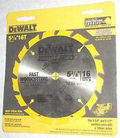 Dewalt DW9055 5 3/8 x 16 Tooth Cordless Circular Saw Blade Fast Wood Cutting