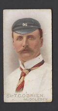 WILLS - CRICKETERS, 1896 - SIR T C O'BRIEN, MIDDLESEX