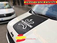 Adhesivo Para El Capo Decal Vinilo Pegatina Coche Jeep Renegade 4x4 Offroad