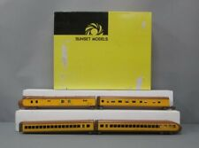 Sunset Models O Scale Brass Union Pacific M-10000 Articulated 4-Car Passenger Se