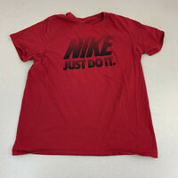 Nike T-shirt Mens XL Athletic Cut Just Do It Red Short Sleeve Casual