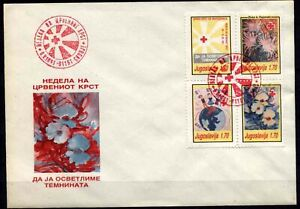 506 Yugoslavia - Macedonia 1991 Red Cross, MK + FDC Red seal
