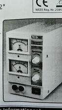 Labornetzteil regelbar 0-15 Volt 0-2 Amp. Nagelneu unbenutzt