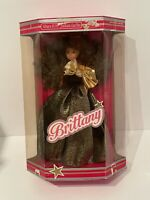 "Vintage Uneeda Brittany Brunette Fashion Doll 11 1/2""  Black And Gold Gown Rare"