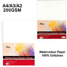 ARTO CELLULOSE WATERCOLOUR PAPER 200gsm A4 A3 A2 Cold Pressed Medium Surface
