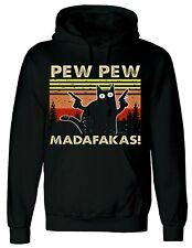 PEW Pew madafakas Vintage Lustig Kapuzenpullover Katze Retro Kätzchen Xmas Hoodie Sweatshirt