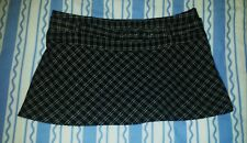Vintage Jane Norman Black Checked Mini Skirt Size 12