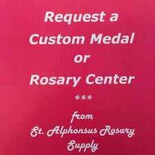 Request a Handcrafted Custom Rosary Center or Religious Medal (Bronze or Silver)